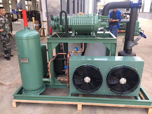 15HP Bitzer Air Cooled Condensing Units Safely Running For Hospital Cold Room