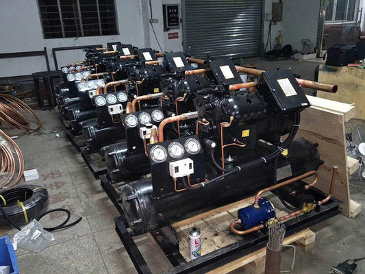 China Industrial Bitzer Compressor Water Cooled Condensing Unit 20HP For Quick Freezing supplier