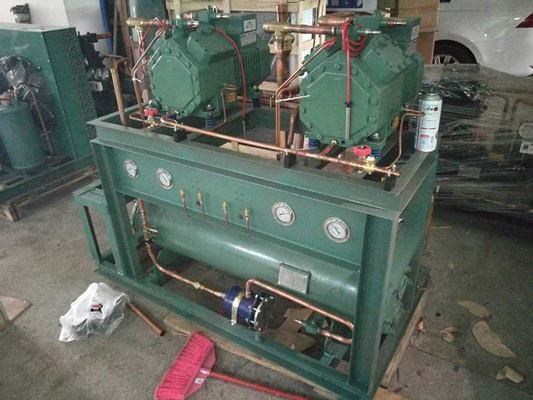 China 25 HP Bitzer Refrigeration Condensing Unit With Semi Hermetic Piston Compressor supplier
