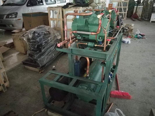 China Industrial 130HP Bitzer Screw Compressor Unit For Tunnel Freezer Low Noise supplier