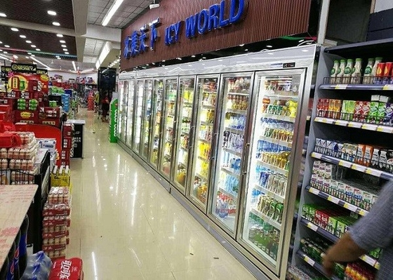 China Supermarket Cool Drink Display Cold Room , Commercial Walk In Freezer Room supplier