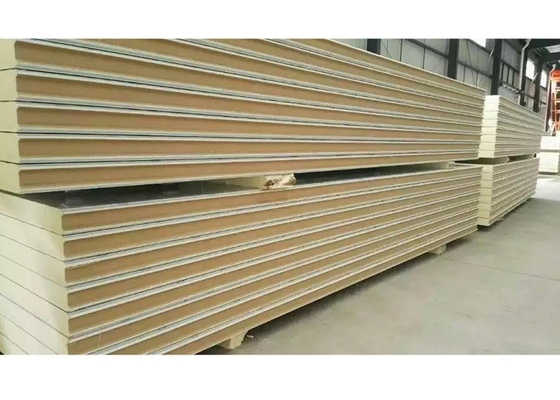 China Heat Insulation Cold Room Insulation Panels Plug In Type / Hook Type PU Sandwich Panel supplier
