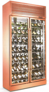 China Custom Size Glass Display Showcase / Wine Beverage Cooler For Supermarket supplier