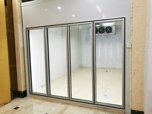 China Transparent Glass Door Cold Freezer Room For Vegetable And Fruit Food Storage supplier