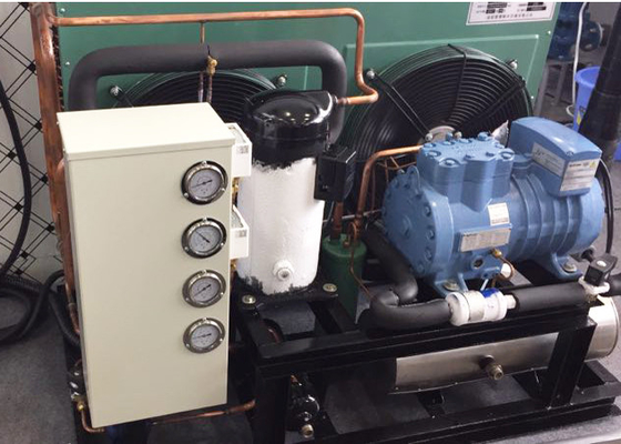 China Open Type Semi Hermetic Refrigeration Condensing Unit / 8HP Freezer Condenser Unit supplier